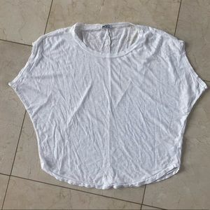 Splendid White Loose Blouse Size Small